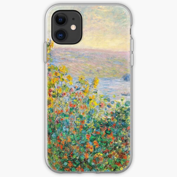 Flower Beds at Vetheuil iPhone Soft Case