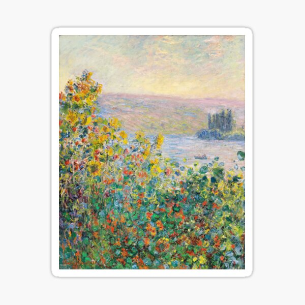 Flower Beds at Vetheuil Sticker
