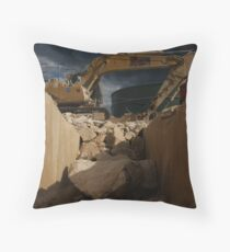earth moving Throw Pillow
