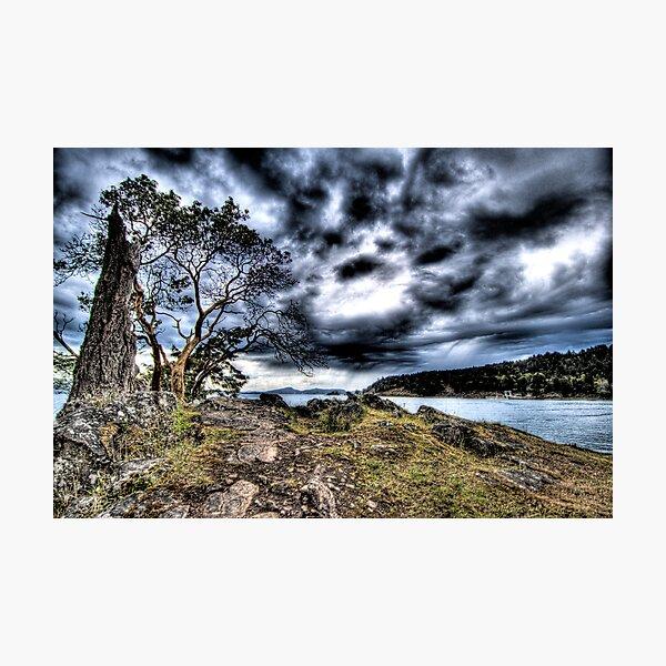 Squall over Mayne Island Photographic Print