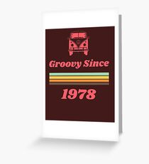 Vintage 1978 40. Geburtstagsgeschenk, 40. Geburtstag Tshirt 1978 Grußkarte