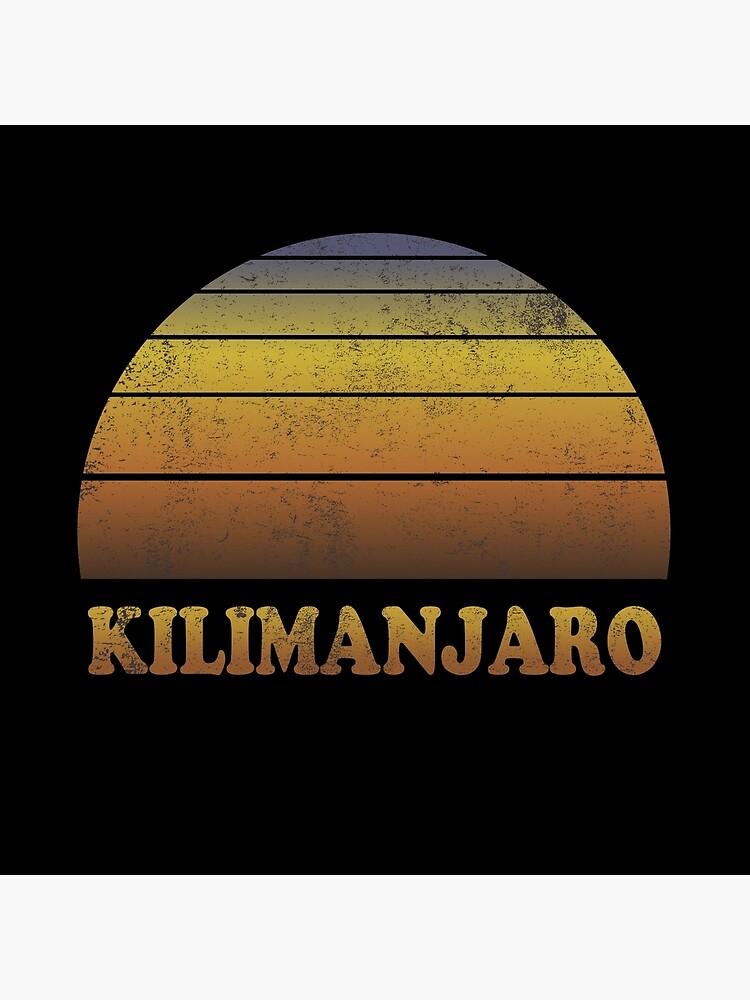 Vintage Kilimanjaro Sonnenuntergang Shirt von hlcaldwell