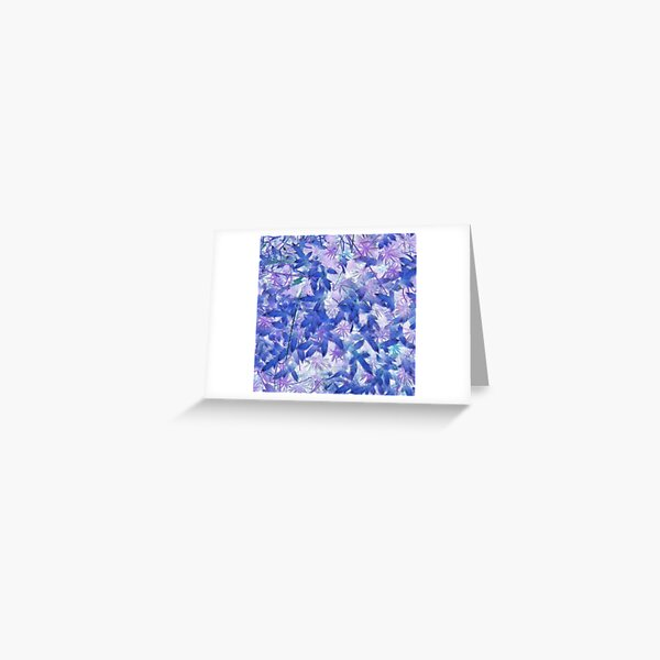 Blue Moss Greeting Card
