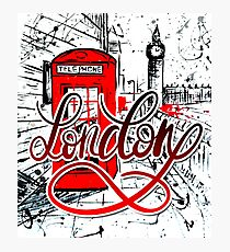 London brush style dynamic hand lettering Photographic Print