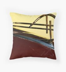 when hood ornaments where art Throw Pillow