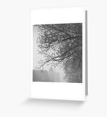 Snow Softly Falling Greeting Card