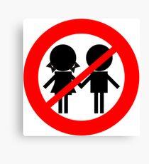 Children Banned Canvas Print