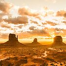 Monument Valley Fire Sunset Summer Heat Nature Photography by artcascadia