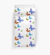 Butterfly Rainbow Chain Duvet Cover
