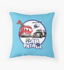 Car Patrol of Car City Throw Pillow