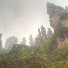 Pinnacles In The Mist by Michael Matthews