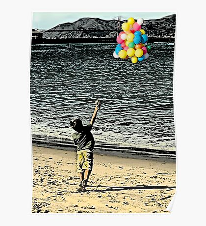 Faith grows~Balloons for God...  Poster
