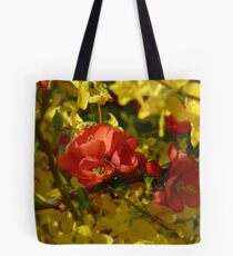 Japanese Quince & Forsythia Tote Bag