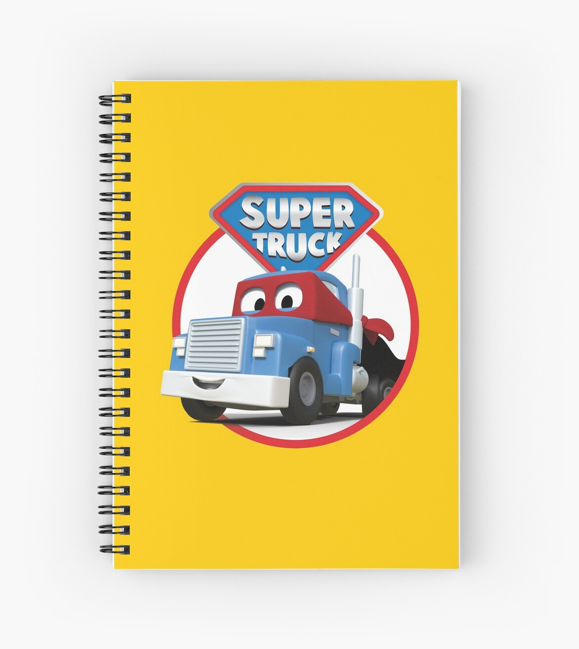 Carl The Super Truck Of Car City Spiral Notebooks By Amuseanimation