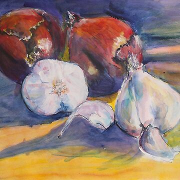 Onions and garlic by crispur
