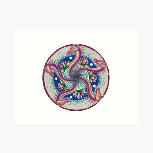 Dragon Dance Mandala Art Print