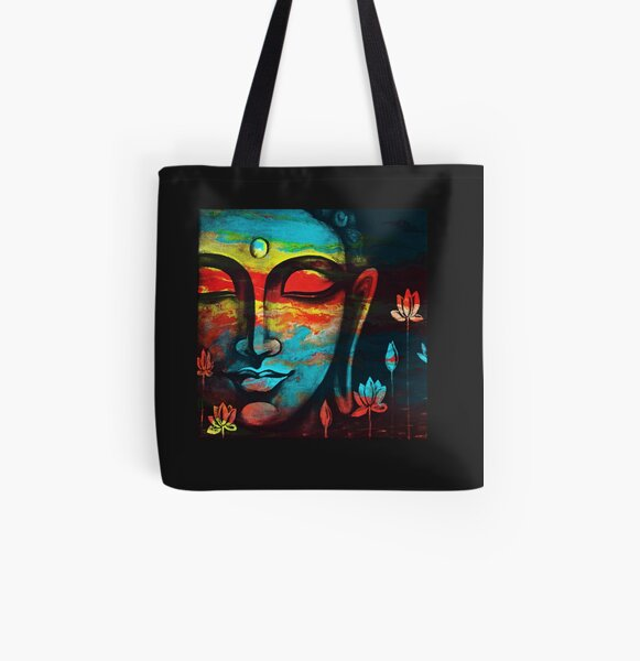 Buddha Peace 3 All Over Print Tote Bag