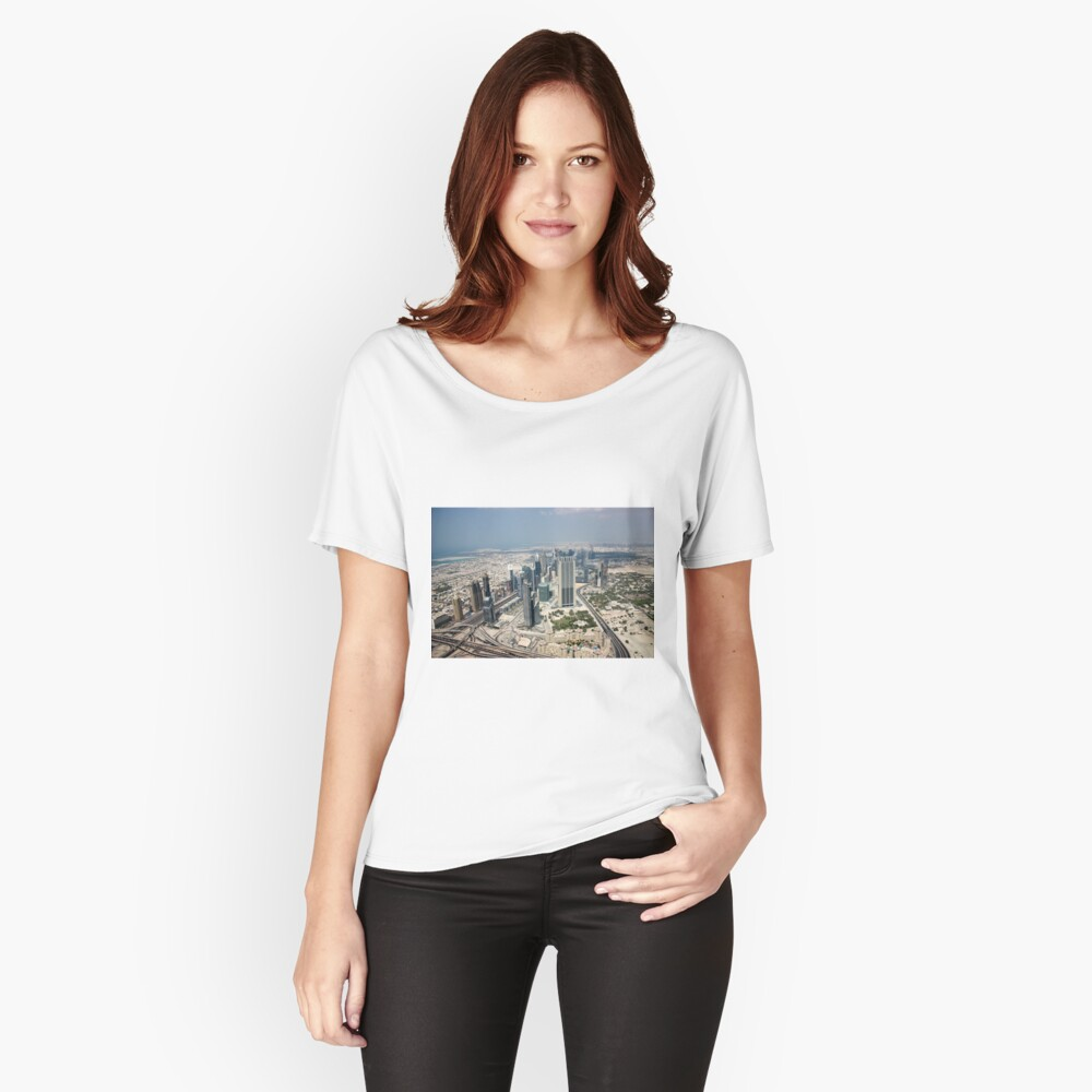 Dubai view from above  Women's Relaxed Fit T-Shirt Front