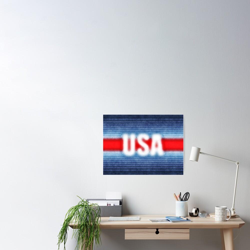USA Typography Poster