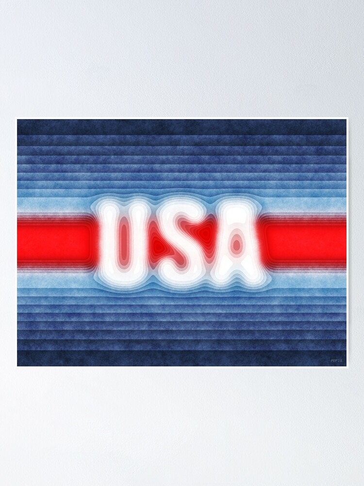 Alternate view of USA Typography Poster