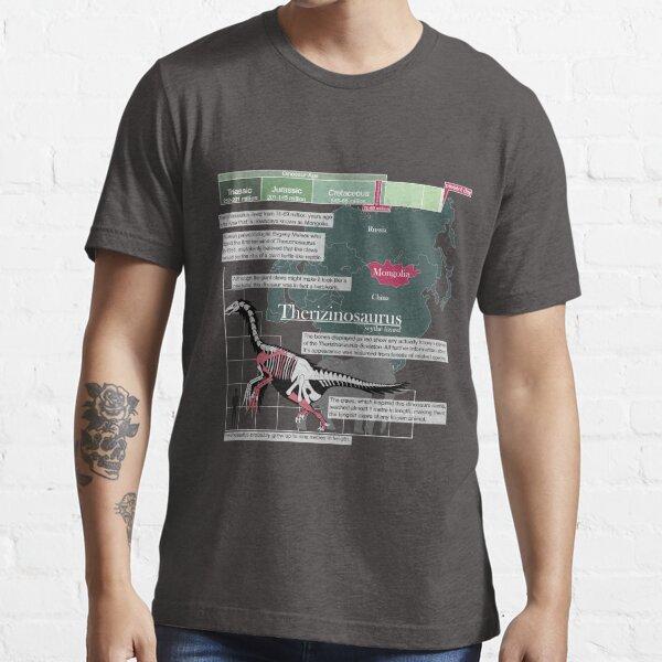 Therizinosaurus Infographic Essential T-Shirt