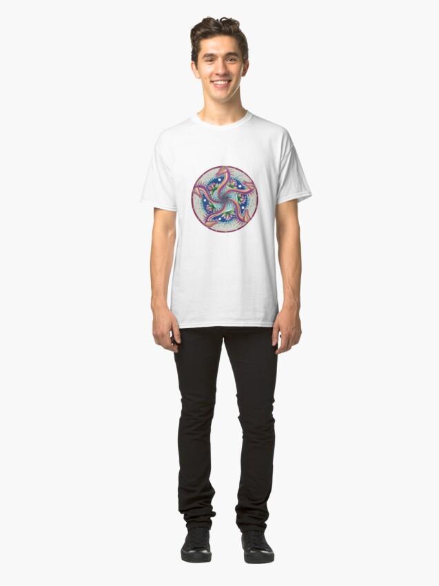Alternate view of Dragon Dance Mandala Classic T-Shirt