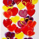 Multicoloured hearts by DucatiCatArt