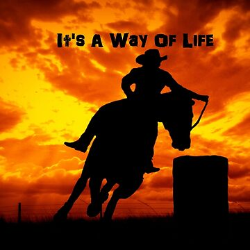 Barrel Racer, Its a way of life by Tinpants