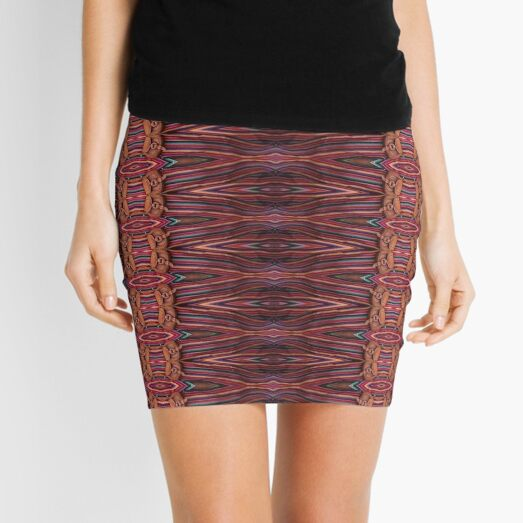Relapse, colors, coloration, colouration, Stylish, fancy, hip, modish Mini Skirt