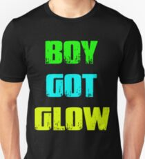 Boy Got Glow Party Shirt Neon 80's Party Birthday T-Shirts Unisex T-Shirt