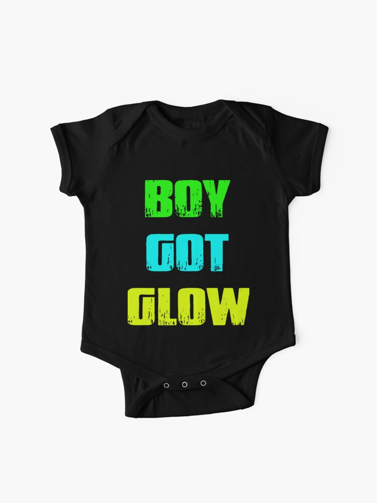 Boy Got Glow Party Shirt Neon 80s Birthday T Shirts Baby One Pieces