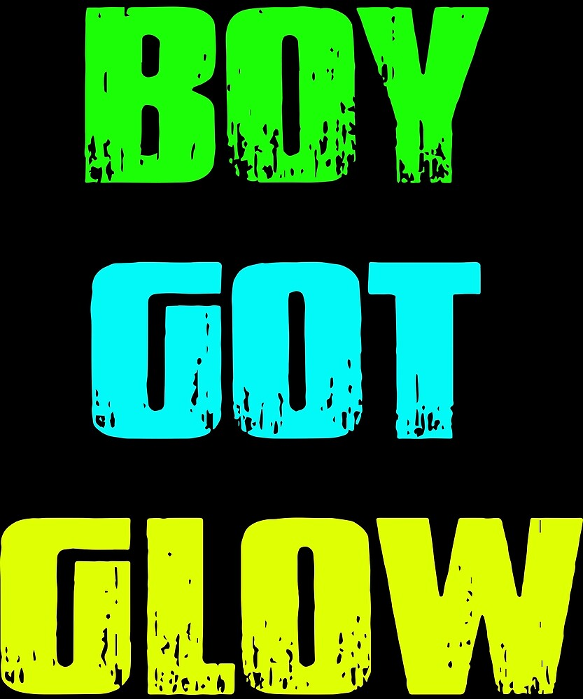 Boy Got Glow Party Shirt Neon 80s Birthday T Shirts