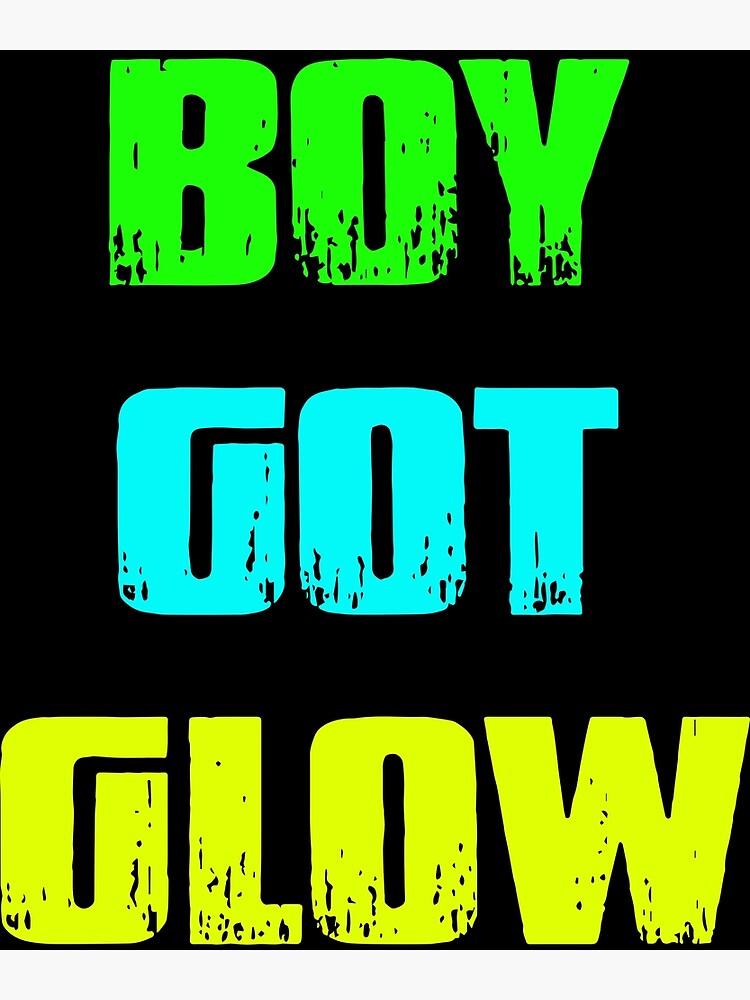 Boy Got Glow Party Shirt Neon 80s Birthday T Shirts By AngelaHughes