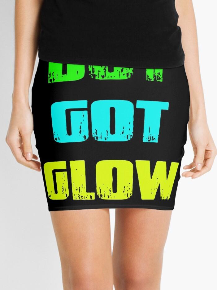 Boy Got Glow Party Shirt Neon 80s Birthday T Shirts Mini Skirt