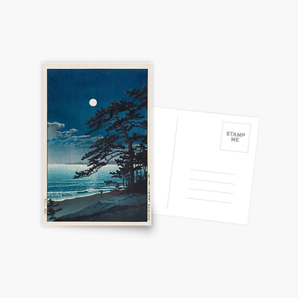 Kawase Hasui - Spring Moon at Ninomiya Beach Postcard