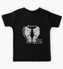 brother my guardian angel forever watching over me nerd t-shirts Kids Tee