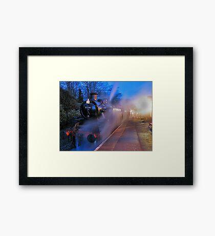 Evening Train Framed Print