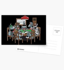 Robot Dogs Playing Poker Postcards