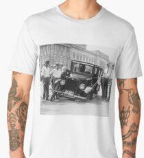 broken black and white car Men's Premium T-Shirt