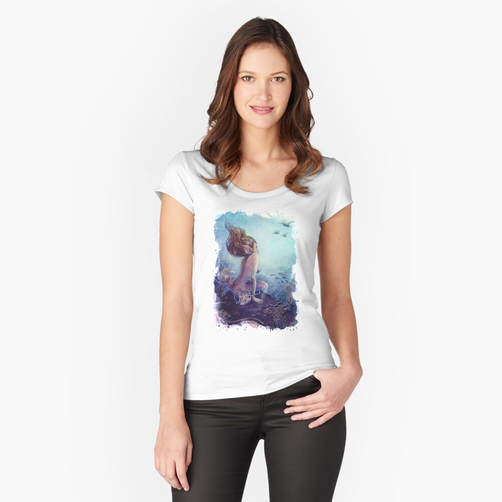 Siren of the coral reef Fitted Scoop T-Shirt