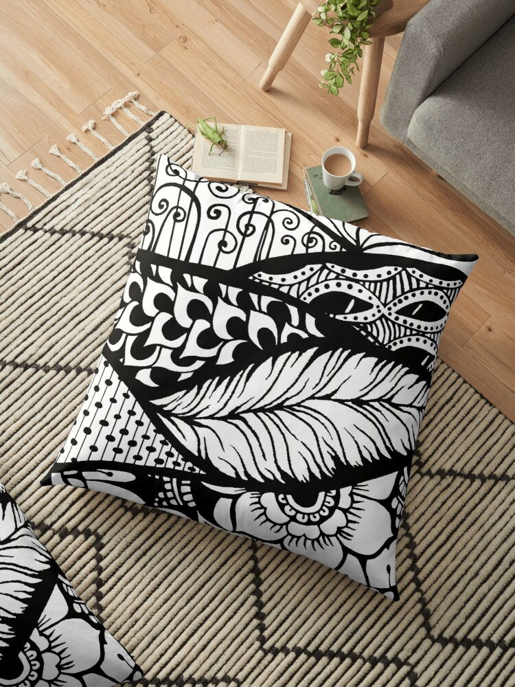 Hill Country Black and White Design by ZeborahGrace