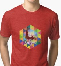 Cologne Cathedral Collage Tri-blend T-Shirt
