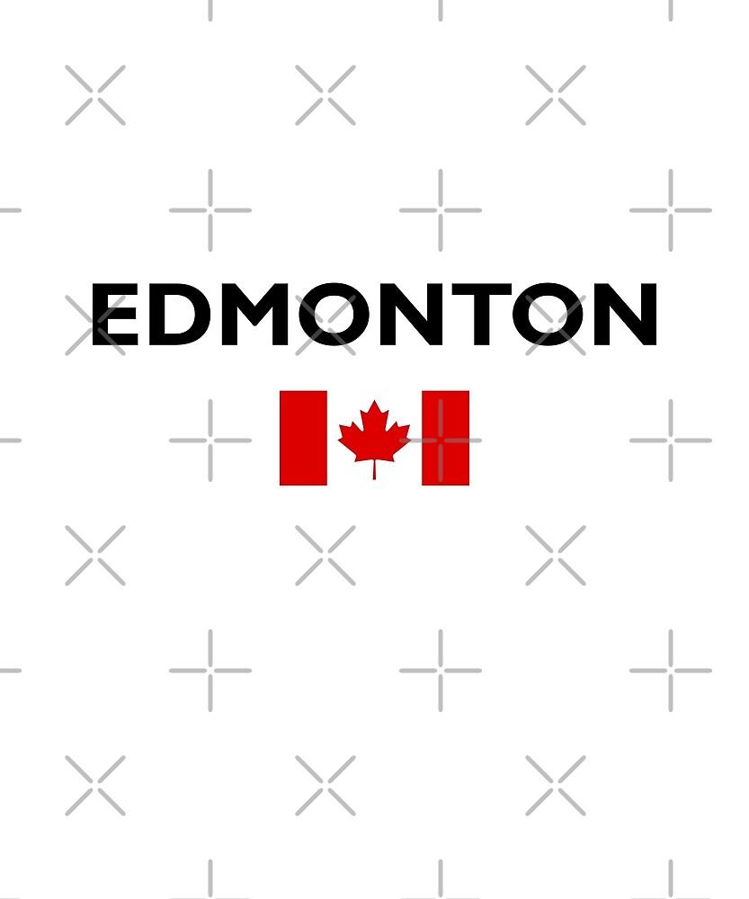 Edmonton Canada Canadian Flag Color Light by TinyStarCanada