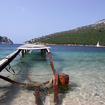 Old bridge in Greece  by sylvianik