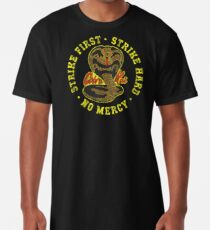Cobra Kai - Strike First - Strike Hard - Keine Gnade - HD Distressed Variante 2 Longshirt