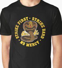 Cobra Kai - Strike First - Strike Hard - No Mercy - HD Distressed Variant Graphic T-Shirt