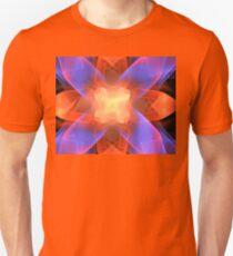 Orange Chenille Flower Unisex T-Shirt