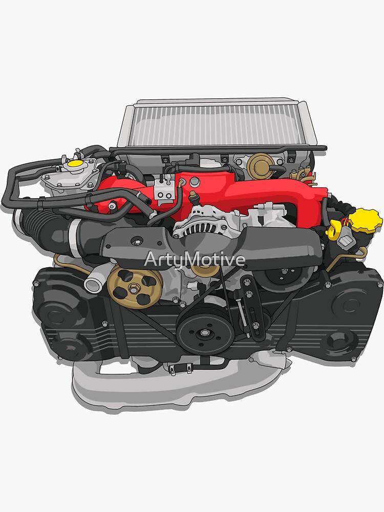 EJ20 Engine sticker by ArtyMotive