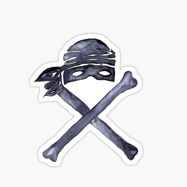 Dread Pirate Jolly Roger Jolly Roberts Sticker