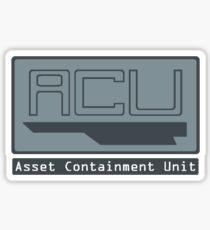 Asset Containment Unit Sticker